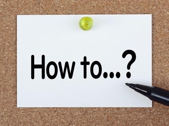 How toと書かれたクリップボード
