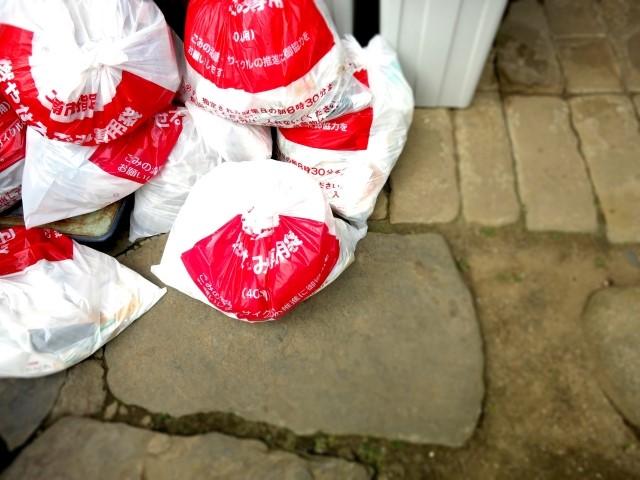 大量のごみ袋