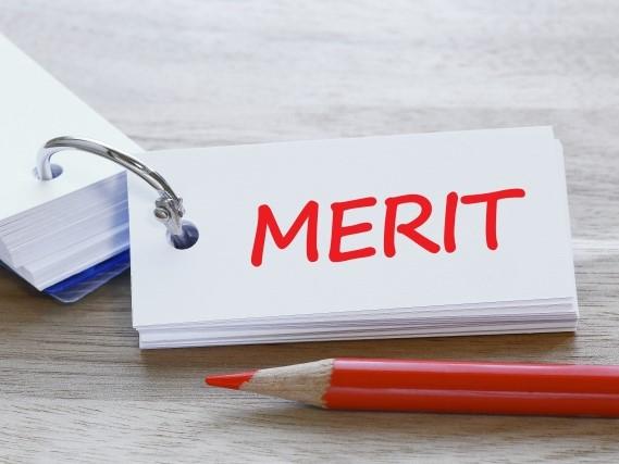 メリットと書かれた単語帳