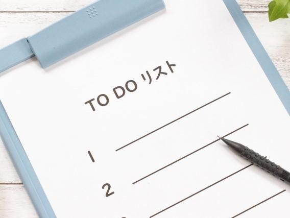 やることリストとペン