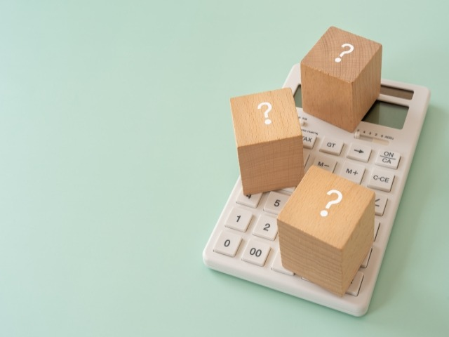 電卓と3つのブロック